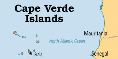 Mapa ng Cape Verde islands africa